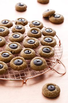 Gingerbread Thumbprint Cŕ ookies