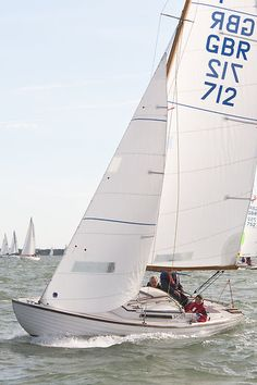 The Folkboat yacht 'Samphire' competing in the 2013 J.P. Morgan Asset Management Round the Island Race.