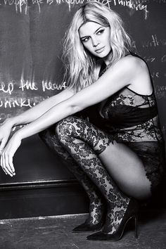 Kelly Rohrbach looks sexy in lace for Calzedonia fall-winter 2016