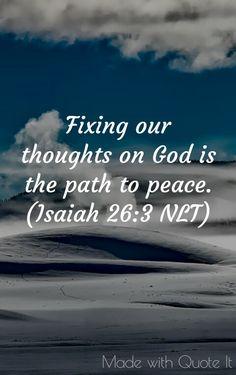 Simplicity - Isaiah 26.3 NLT
