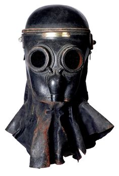 "Accidental Mysteries, 09.30.12: Art without Artists: Observatory: Design Observer -Firefighter's respirator mask, 19th century, England, brass, leather, mica, 16"" x 8"" x 11"", collection of Steve Erenberg."