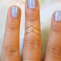 Chevron Knuckle Ring