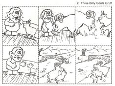 The Three Billy Goats Gruff sequencing cards. These are great for retelling… Sequencing Pictures, Sequencing Cards, Story Sequencing, Sequencing Worksheets, Traditional Tales, Traditional Stories, Kindergarten Literacy, Literacy Activities, Early Literacy