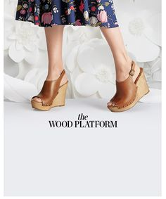 """The Wood Platform www.theteelieblog.com """"Paired with demi dresses or wide-leg jeans, this retro fave looks impossibly fresh."""" #TeelieBlog"""