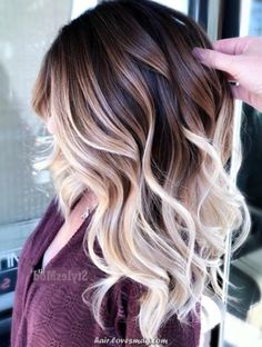 Ombre Hair Color For Brunettes, Brunette Color, Hair Color Highlights, Hair Color Balayage, Brunette Hair, Hair Color Ideas For Brunettes For Summer, Hair Colors For Summer, Balayage Brunette To Blonde, Balayage Hairstyle