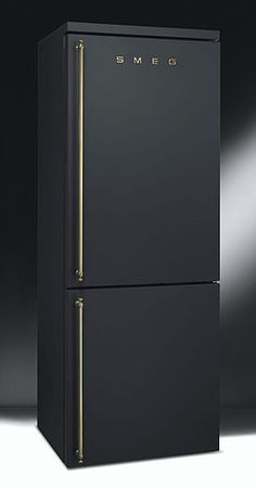HGTV's Genevieve Gorder's favorite home decor and interior design picks for 2016 - on the Dog Lady Design Files blog! One of her favorites? Matte black fixtures. She thinks this SMEG fridge is pornographic. Too funny! Interior Design, Home Decorating and Dog Musings from Jersey City www.dogladydesignfiles.com