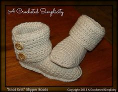 "Ravelry: ""Knot Knit"" Slipper Boots pattern by Jennifer Pionk  pattern $5.00"