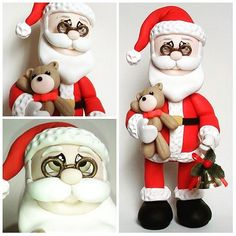 O bom velhinho ESTÁ Chegando.  Ho ho ho 🎅🎄🎁⛄Corra!  Encomende o Seu!  #papainoel #santaclaus #biscuit #polimerclay #delasartesanato #handwork #feitoamao # Decoração #natal #christmas #fizcomasah
