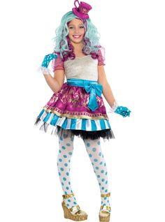 Girls Madeline Hatter Costume Supreme - Ever After High - Party City