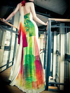 Colorful Wedding Dress Modern Wedding Dress by WaiChingBridal Colorful Wedding  Dresses 4cce750cabce
