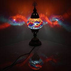 Handmade Stunning Multicolour Turkish Moroccan Style Mosaic Lamp Desk Table Lamp