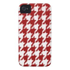 Select a Color and White Houndstooth iPhone 4 Covers