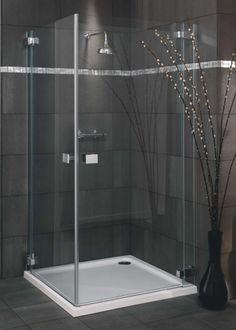 Lakes Italia Milazzo Frameless Pivot Shower Door 800 x 800 (Silver)