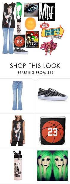 """@Warped Tour with MDE"" by andysgirlforever123 ❤ liked on Polyvore featuring M.i.h Jeans, Vans and River Island"