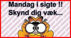 Mandag i sigte, skynd dig væk. Proverbs, Make Me Smile, Wise Words, I Laughed, Me Quotes, Sayings, Funny, Sink Tops, Humor
