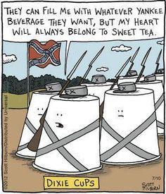 Sweet Tea cartoon