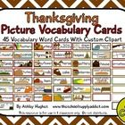 $ Thanksgiving Vocabulary-Picture cards (45 cards)
