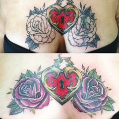 Heart Locket w Roses /Coverup