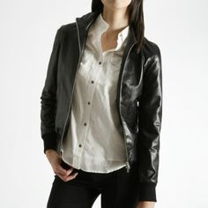 Buy this Sophia Jacket Glover. Made in Canada from Italian Leather. Leather Jackets, Italian Leather, Roots, My Style, School, Stuff To Buy, Women, Fashion, Moda