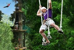 """Jun 2019 - Sigulda Adventure Park """"Tarzans"""" is the largest outdoor adventure park in the Baltics. The park offers a Tarzan obstacle tracks with more than 100 different trees located obstacles up to 20 meters. Sport Outdoor, Extreme Sports, Amusement Park, Highlight, Trip Advisor, Places To Visit, Trees, Adventure, Voyage"""