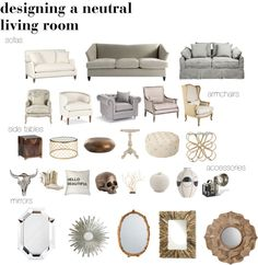 Top pieces to help you design a neutral living room. Really I just want that Hello Beautiful pillow, it would make me smile Condo Living Room, Living Room Decor, Living Spaces, Home Hacks, Living Room Inspiration, Modern House Design, Living Room Designs, Family Room, Interior Design