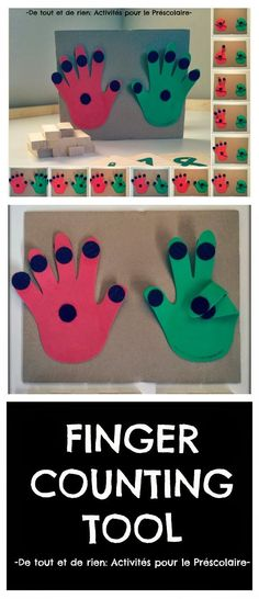 finger counting tool to help the little ones.Simple finger counting tool to help the little ones. Math For Kids, Fun Math, Math Games, Toddler Activities, Preschool Activities, Preschool Math, Math Classroom, Kindergarten Math, Teaching Math