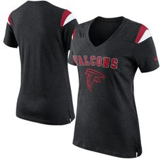 Nike Atlanta Falcons Ladies Fan V-Neck T-Shirt - Black Sports Women f0a5149e3