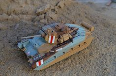 Matilda II tank used by the Allies throughout WWII, in particular in North Africa. 1/48 scale model.