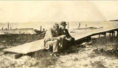 Thomas Alva Edison & Henry Ford at Punta Rassa Fla. Lee County . Best Friends ..