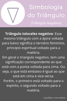 Triângulo Negativo Magic Symbols, Baby Witch, Book Of Shadows, Gods And Goddesses, Witchcraft, Tarot, Spirituality, Letters, Learning