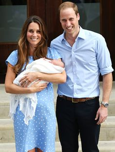 The Duke and Duchess of Cambridge made their first appearance since the birth of their son when they left St. Mary's Hospital in London — and Kate didn't skip a sartorial beat. Catherine turned to one of her trusty favorite designers, Jenny Packham,to create a custom look for her much-photographed moment.