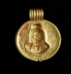 Pendant with Image of Sarapis, Egyptian  ,        2nd century BC