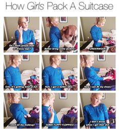 Jenna Marbles How girls pack a suitcase... literally how it works