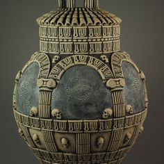 """Est Finis Omnium - End of All Things"" - detail Andrew Tarrant - Trespasser Ceramics Earthenware, Carving, Pottery, Ceramics, Christmas Ornaments, Holiday Decor, Unique, Artwork, Detail"