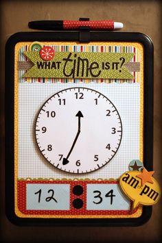 Dry Erase Clock by Tanisha Long