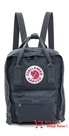 Fjallaraven Kanken Mini Backpack in Graphite Fjallraven Kanken Mini, Mochila Kanken, Mini Kanken, Kendall And Kylie, Tumi, Mini Backpack, Backpack Bags, Cambridge Satchel, Zac Posen