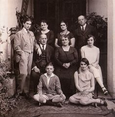 The Kahlo family portrait. Frida (pictured far left in suit) would've been 19 at the time. , c. 1924