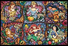Counted Cross Stitch Pattern, Stained Glass, Disney Princesses, Ariel, Cinderella, Paper Pattern or Cross Stitch Kit by dueamici on Etsy https://www.etsy.com/listing/191540170/counted-cross-stitch-pattern-stained