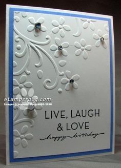 Stampin Up Birthday Card Ideas | the birthday card I designed for her. This one of a kind handmade card ...
