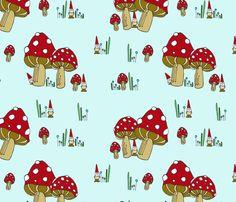 Mushrooms & gnomes scatter by Tweedlebee