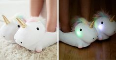 These Adorable Unicorn Slippers That Light Up With Every Step You Take Are Beyond Awesome