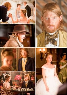 Kitty and Levin, and their adorable angst. Stills from Anna Karenina.