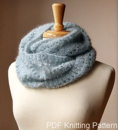 Infinity Scarf Knitting Pattern - Fall Winter Fashion - Snood KNITTING PATTERN - Genevieve Cowl - PDF Digital Download. by AtelierTPK on Etsy