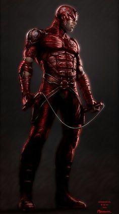 I don't like daredevil much, but I LOVE this Daredevil - by •Warren Manser   #comics #marvel #daredevil
