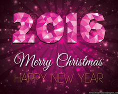 Merry Christmas and Happy New Year 2016 Wallpaper