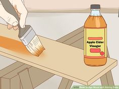How to Age Wood with Baking Soda. If you want to give new wood a distressed or aged look, you don't have to leave it outside for years to weather naturally. One of the simplest ways to age wood quickly is to apply a paste of baking soda. Easy Wood Projects, Aging Wood, Old Wood, Own Home, Baking Soda, Woodworking Projects, Diy, Vaseline, Art Logo