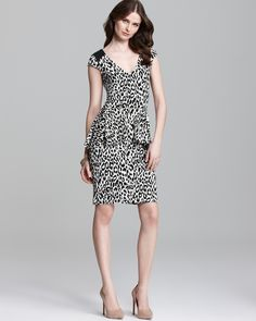 Walk on the #WildSide: our new #Leopard #Peplum Dress | Available at @Bloomingdale's