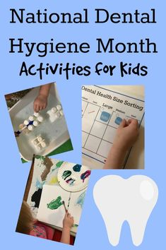 Kids Health Come explore Dental Health and Hygiene with your own preschoolers with playful learning activities and book suggestions. via - Dental Health and Hygiene Activities for Preschoolers! Health Activities, Educational Activities, Preschool Activities, Preschool Kindergarten, Preschool Learning, Cardio, Dental Health Month, Stress, Health Lessons