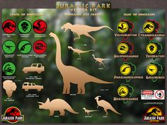"""Give me feedback on """"the Dinosaurs  from Jurassic Park movie vector kit"""", a work-in-progress on @Behance :: http://be.net/wip/1496683/2593881"""