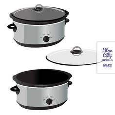Slow Cooker Clip Art Clipart Vector Art by StarCityDesigns on Etsy, $4.00